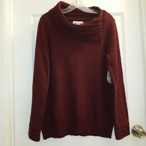 Coldwater Creek envelope collar sweater NWT
